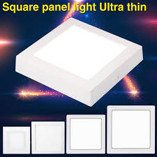 flat square ceiling lights cool warm white square led surface panel light flat ceiling l 6