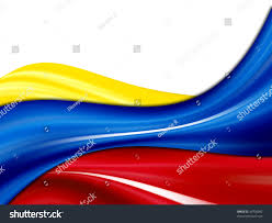 White Blue Orange Flag Colombia Waves Flag Yellow Blue Red Stock Illustration 34706092