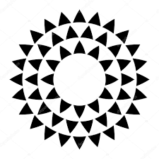 abstract geometric ornament simple and minimalistic abstract