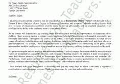 interesting inspiration sample cover letters for teachers 8