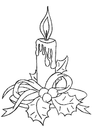 christmas candle coloring embroidery christmas
