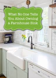 one farmhouse what no one will tell you about farmhouse sinks pretty handy