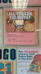 Pizza Hut Lunch Buffet Hours by Lunch Buffet Yelp