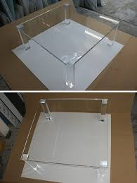 clear plastic console table perspex fabrication and acrylic fabrication perspex furniture