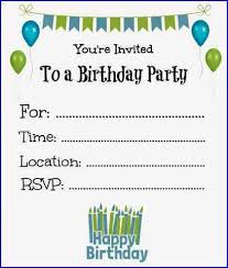 free printable birthday invitations for boys printable invitations