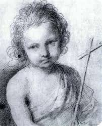 the infant st the baptist holding a cross by guercino on artnet