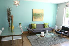 Cute Small Apartments by Decorating Blue And Brown Family Room Ideas With Wood Flooring The