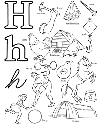 coloring pages with letter h letter h coloring pages to download and print for free