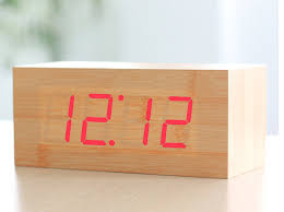 bedroom clocks hito wood grain led alarm clock 20 alarm clocks for the home