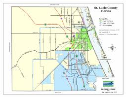 South Florida County Map by Map Gallery St Lucie County Fl