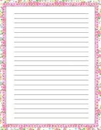 Paper With - free lined handwriting paper with border odds and sods