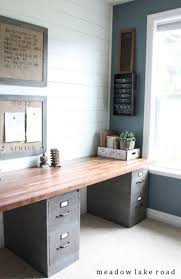 Wooden Home Office Filing Cabinets Modern Farmhouse Office Filing Cabinets With Wood Top Easy Diy