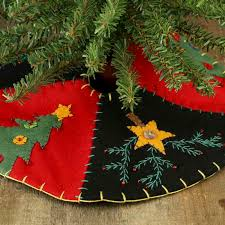 small tree and embroidered tree skirt
