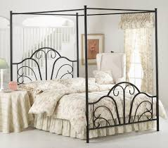 home design black leaves pattern wrought iron four poster canopy