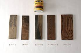 what stain looks on pine how 6 different stains look on 5 popular types of wood