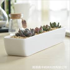 Rectangular Succulent Planter by Indoor Flower Pots Ceramic Succulent Planter Glazed Stoneware