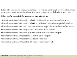 Resume Writer Jobs Top 10 Resume Writer Interview Questions And Answers