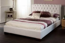Bed Frame White White Leather Bed Frame Bed Frame Katalog 2f7998951cfc