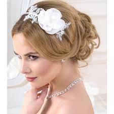 serre tãªte mariage serre tête fleur et dentelle blanc noir ou ivoire coiffure