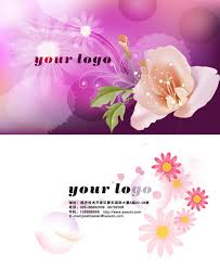romantic flower business card psd background material u2013 over