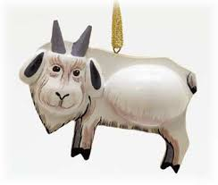 goat ornament handpainted in russia