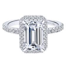 engagement rings cut images 18k white gold emerald cut double halo diamond engagement ring jpg