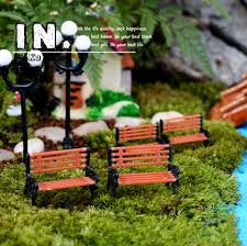 Garden Decor Accessories Aliexpress Com Buy Cute Mini Chair Bench Home Decor Miniatures