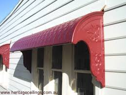 Metal Window Awnings Pressed Metal Awning Project Using Fishscale Panels Fremantle