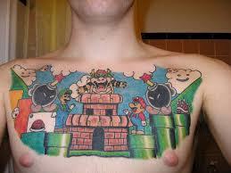 tattoo game design on chest for men tattoo design ideas