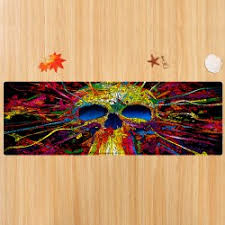 Skull Area Rug Wholesale Skull Pattern Water Absorption Area Rug W24 Inch L71