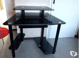 bureau noir laqué meuble bureau noir et blanc socialfuzz me