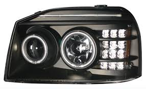 nissan frontier led light bar frontier 2001 2004 projector headlights with led bar black clear