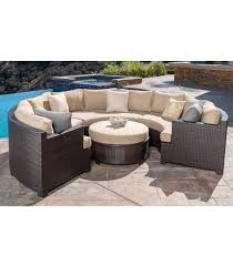 Curved Wicker Patio Furniture - patio furniture belmont 4 piece curved sectional set
