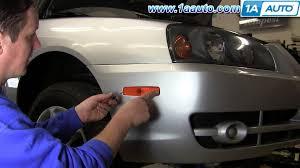 hyundai elantra 2005 headlight bulb how to install replace side marker light and bulb hyundai elantra