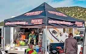 Ez Up Awnings Motocross Action Magazine Mxa Team Tested E Z Up Endeavor