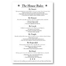 Family House Rules The House Rules V3white Poster House Rules House And Parents