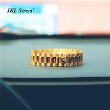 links style bracelet images Brand new elegant 15mm stainless steel golden crown president jpg