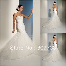 wedding dresses without straps aliexpress com buy paste flower lace fishtail