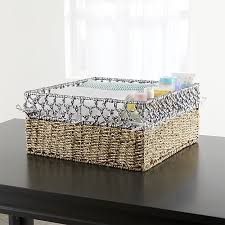 Basket Changing Table Open Weave Large Changing Table Basket In Bins Baskets Reviews