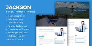 drupal themes jackson jackson personal portfolio template by themehavens themeforest