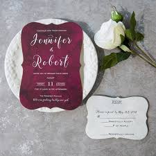 wedding invitations burgundy cheap modern burgundy bracket wedding invitations ewib422 as low
