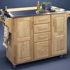 kitchen island cart stainless steel table top rolling breakfast