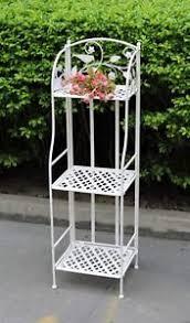 etagere ferro etagere ferro scaffale bianco porta piante esterno giardino ebay