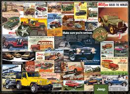 jeep advertising collection jigsaw puzzle
