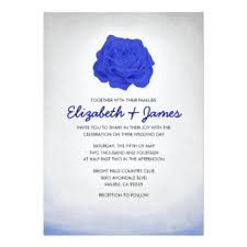 Royal Blue Wedding Invitations Royal Blue Wedding Reception Invitations U0026 Announcements Zazzle