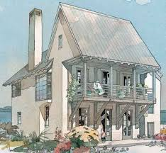 Coastal Cottage Home Plans 156 Best Beach House Narrow Lot Plans Images On Pinterest Modern