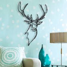 stag head designs stag trophy sustainable wood wall sign hu2 com
