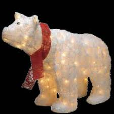 Christmas Yard Decorations Lighted by Outdoor Lighted Polar Bear