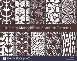 abstract seamless patterns geometrical and floral ornamental motifs