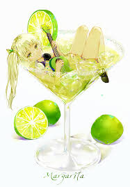 margarita png 1girl alcohol bow cocktail cocktail glass commentary request cup